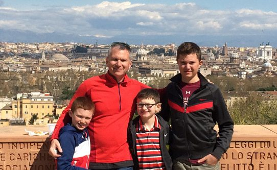 Martin family on Janiculum Hill in Rome