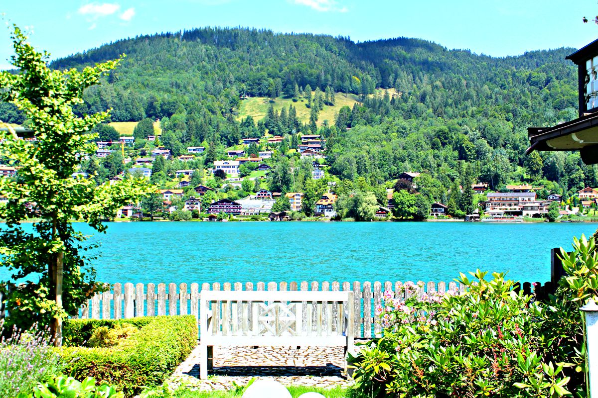 Just steps away from the hotel property is gorgeous Lake Tegernsee, a popular German vacation destination.