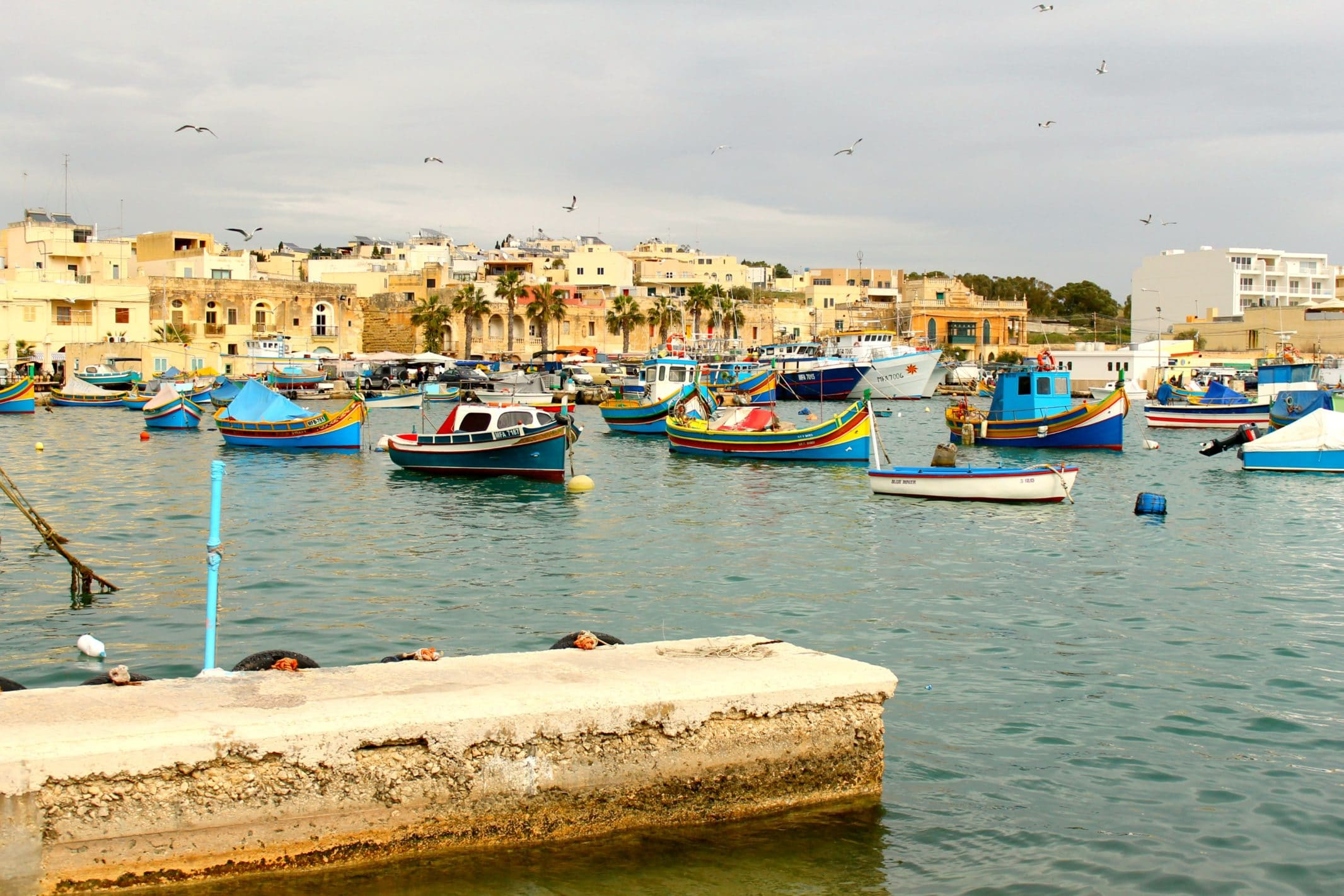 Corinthia Palace's central location means beautiful fishing villages like Marsaxlokk are only a 20 minute drive away.