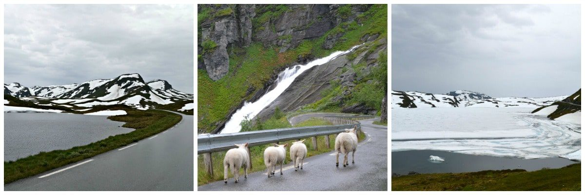 The scenic road from Balestrand to Bergen over the Vikafjellet mountains