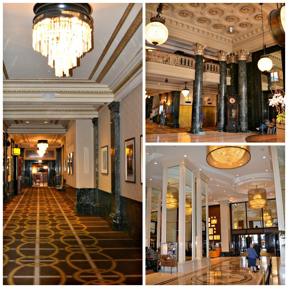 Historic hallways lined with photos of celebrity blend with the modern lobby