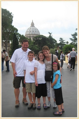 Family in Front of St Peters Rome Italy