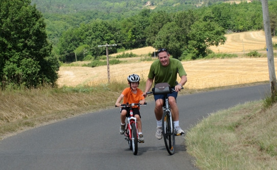 Bike Riding in Dordogne France with Kids