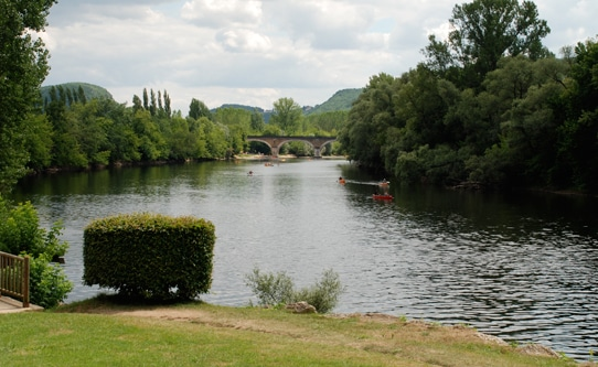 Canoeing on Dordogne River France
