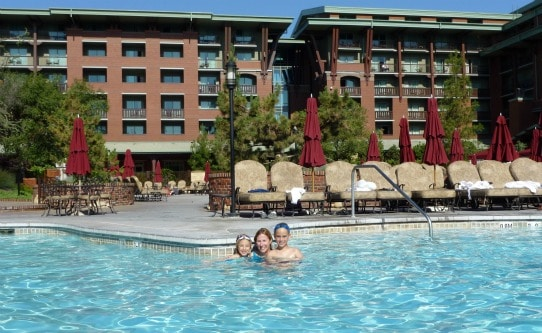 Enjoying the large pool at Disney's Grand Californian