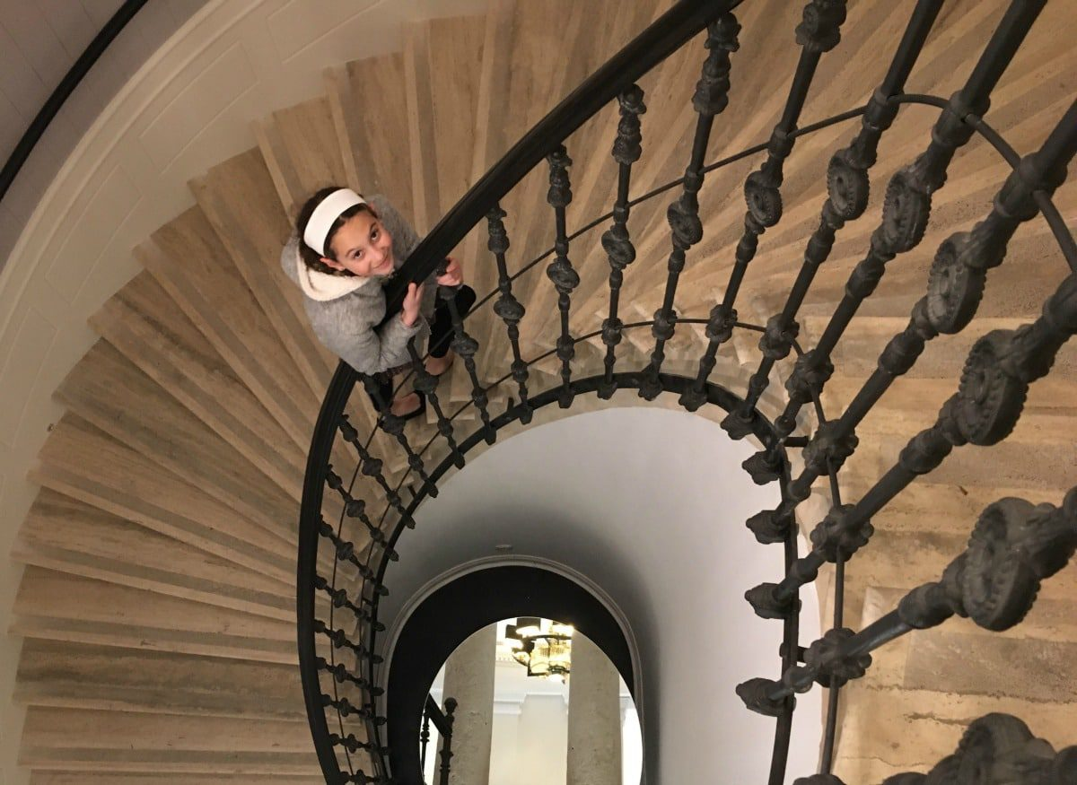 Aria Hotel Budapest spiral staircase