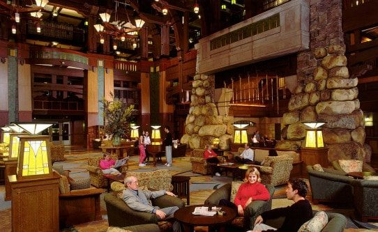 Relaxing in great room at Grand Californian