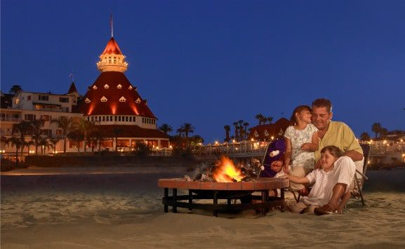 Celebrate a locals tradition with s'mores on the beach